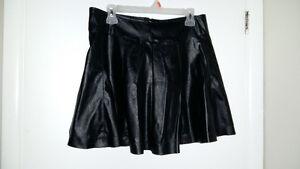 Black Pleather Mini Skirt