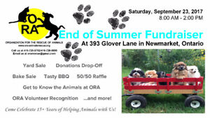 Newmarket Charity Yard Sale for Animal Rescue
