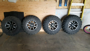 30×10×14 tires and rims Can Am.PRICE IS FIRM.