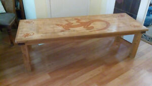 Very cool solid PINE large coffee table DELIVERED!