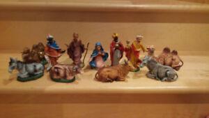 Figurines pour crèches de noel fait en italie