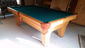 Olhausen Accu-fast pool table. 4.5 ft x 8 ft