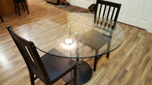 Glass Dinner Table and Chairs