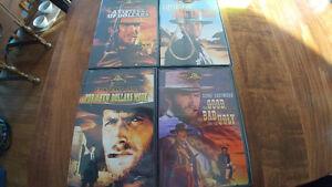 Various DVDS Clint Eastwood, John Wayne