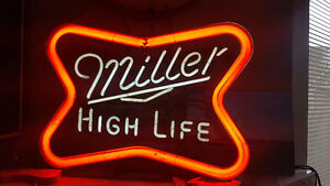 LARGE MILLER HIGH LIFE NEON SIGN
