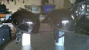 2 Solid Glossy Half Helmets  25.00 each or sold at 40.00 for set Cambridge Kitchener Area image 1