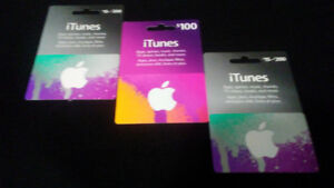 Gift Cards- I-Tunes- Brand New!!!