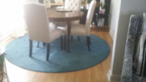 8 foot round wool area rug