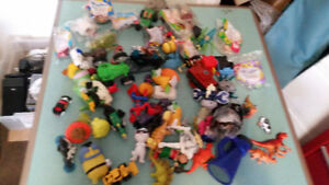Large pile of Mcdonald's Toys