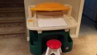 Step 2 - Child Deluxe Master Art Desk and Stool