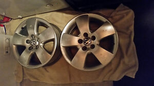 "FS Used Aloy rims 15"",from VW Jetta 1999-2005,5x100 bolt pattern"
