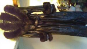 Full Length Ladies Dana Reit Leather Coat