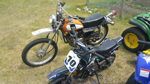 two dirt bikes 100cc and 50cc may swap