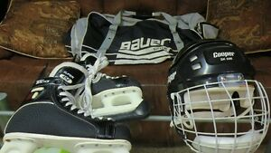 CCM Skates & Helmet