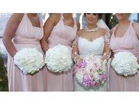 Blush Pink Multiway Brideamaid Dresses