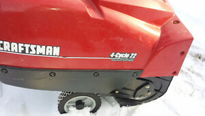 4 cycle Electric Start Snowblower - Craftsman 22""