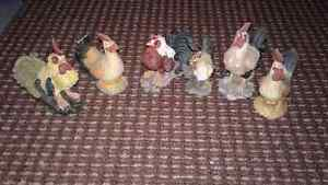 Large Lot of Decorative Roosters