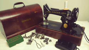Vintage 1950 singer electric portable sewing machine