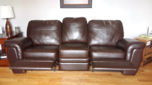 Palliser reclining leather sofa