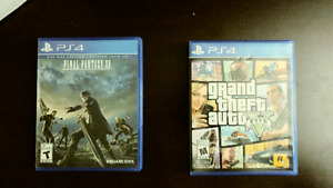 Selling Final Fantasy 15 and Gta 5 perfect condition
