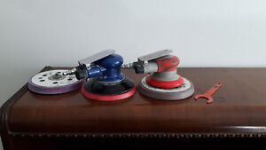 Selling two air powered 3M obital sanders and a skil saw