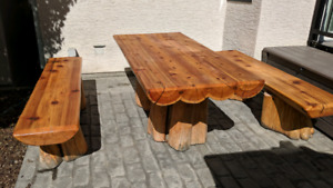 Custom built Cedar Picnic Table
