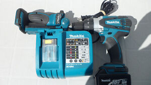 Makita DHP458 18 Volt Hammer Drill and Charger $180 Prince George British Columbia image 2