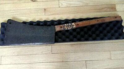 Large Vintage Foster Bros No.14 Meat Cleaver, Hog Splitter