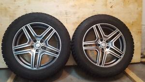 Mercedes gl ml AMG rims on winter tires