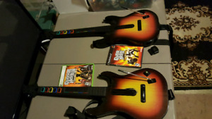 Xbox 360 and ps2 guitars