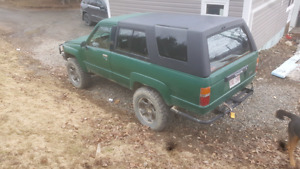 1988 Toyota 4 runner and a 1989 Toyota truck