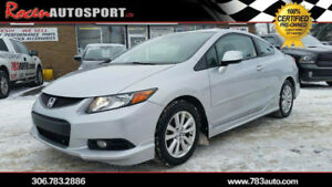CERTIFIED 2012 HONDA CIVIC EX-L - LOADED - 90K - YORKTON
