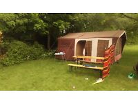 Raclet trailer tent 6 berth with sleeping pod