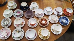 Antique tea cup collection