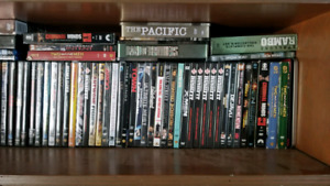 Large selection of DVDs and Blu Rays