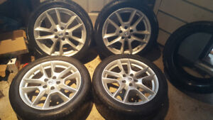 18 inch snow tires on Nissan Rims