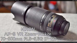 Nikon AF-S DX Nikkor 70-300mm 1:4.5-5.6 G VR Lens for Sale