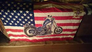 Vintage Harley Davidson flag