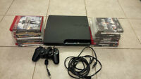 PS3 Slim, 250 GB with 18 Games Plus 1 Controller
