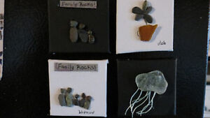 beach art magnets by Deb Humen
