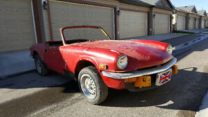 Triumph Spitfire Mk 4 project car