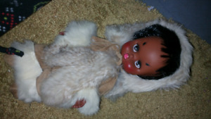 old Eskimo doll
