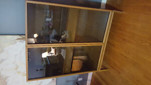 Tinted glass display cabinet