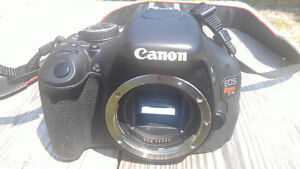 Camera, Lenses, Batteries And Bag - $500