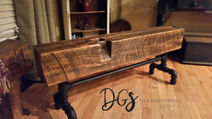 Barn Beam and Live Edge Benches