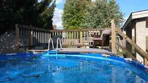 SALT WATER POOL WITH DECK
