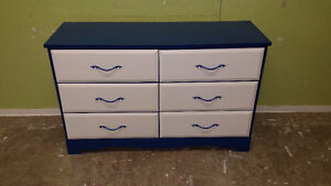 Painted today solid wood vintage Blue & White dresser $179. Dres