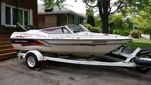 1990 Sunray Express 17 foot with 115 hp OB