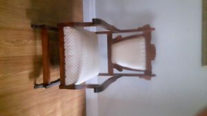 Eastlake Vintage Rocker and Parlor Chair