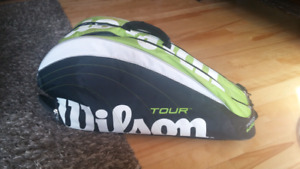 Tennis wilson racquets and bag